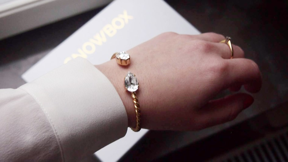 Caroline Svedbom Mini Drop Bracelet on arm