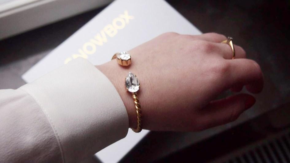 Caroline Svedbom Mini Drop Bracelet on arm