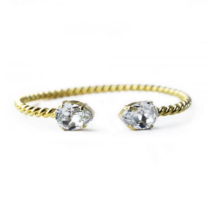 Caroline Svedbom Mini Drop Armband crystal